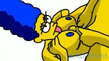 Simpsons porno marge sendo putinha do barte