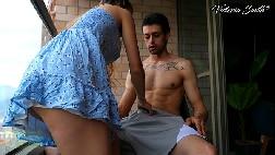 Casal sexo amador na sacada do prédio